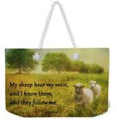 My Sheep Hear My Voice Weekender Tote Bag