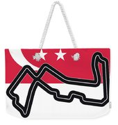 My Singapore Grand Prix Minimal Poster Weekender Tote Bag