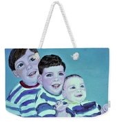 My Three Sons Weekender Tote Bag