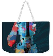 My Violin Whispers Music In The Night Weekender Tote Bag by Nikki Marie Smith