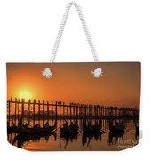 Myanmar. Taungthaman Lake. U Bein Bridge. Sunset. Weekender Tote Bag
