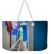 Mykonos Alley Weekender Tote Bag