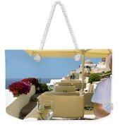 Mykonos Restaurant Weekender Tote Bag