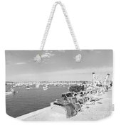 Mylor Quay In Cornwall Monochrome Weekender Tote Bag