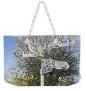 Mylor Signpost Weekender Tote Bag