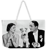Myrna Loy Asta William Powell Publicity Photo The Thin Man 1936 Weekender Tote Bag