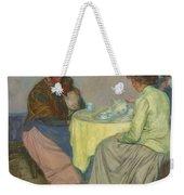 Myron G. Barlow 1873 - 1937 Dutch Women Drinking Coffee Weekender Tote Bag