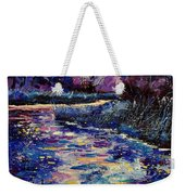 Mysterious Blue Pond Weekender Tote Bag