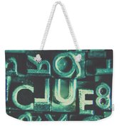Mystery Writer Clue Weekender Tote Bag