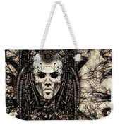Mystic Future And Past - Ion Prophecies - Monotone  Weekender Tote Bag