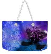 Mystic Poppy Blue Purple  Weekender Tote Bag