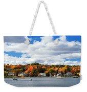 Mystic River In Autumn Weekender Tote Bag
