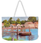 Mystic River View Weekender Tote Bag