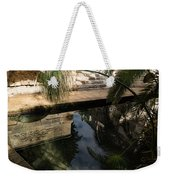Mythical Arethusa - Wild Papyrus And Frieze Reflections Weekender Tote Bag