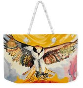 Mythical Eagle Perching Oil Painting Weekender Tote Bag