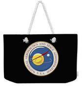 N A S A Emblem Over Black Velvet Weekender Tote Bag