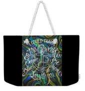 N/z Abalone /lettering Weekender Tote Bag