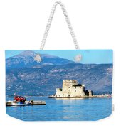 Naflion Greece Harbor Fortress Weekender Tote Bag