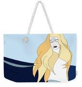 Naiades - Goddess Of The Seas- Beautiful Woman Portrait Minimalist Drawing Weekender Tote Bag
