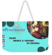 Naidu Brides And Grooms In Chennai Weekender Tote Bag