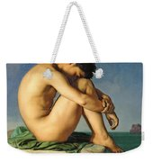 Naked Young Man Sitting By The Sea, 1836 Weekender Tote Bag