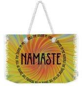 Namaste Divine And Honor Swirl Weekender Tote Bag