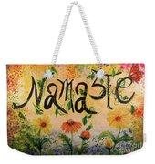 Namaste Weekender Tote Bag