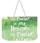 Namaste- Watercolor Card Weekender Tote Bag