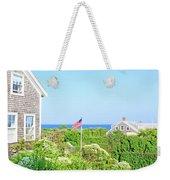 Nantucket Cottages Overlooking The Sea Weekender Tote Bag