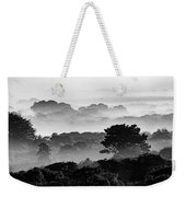 Nantucket Middle Moors In Fog Weekender Tote Bag