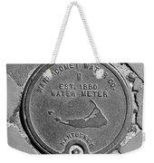 Nantucket Water Meter Cover Weekender Tote Bag
