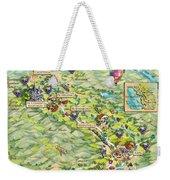 Napa Valley Illustrated Map Weekender Tote Bag