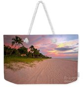 Naples Beach At Sunset, Florida Weekender Tote Bag