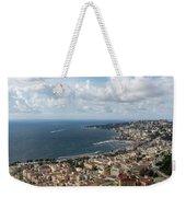 Naples Italy Aerial Perspective - Coastal Beauty Of Mergellina, Posillipo And Marechiaro Weekender Tote Bag