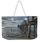 Naples Pier And Beach Fun Weekender Tote Bag