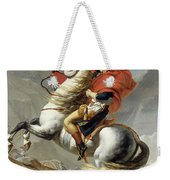 Napoleon Crossing The Alps, Jacques Louis David, From The Original Version Of This Painting  Weekender Tote Bag