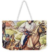 Napoleon Making A Narrow Escape With An Austrian Cavalry Patrol Close On His Heels Weekender Tote Bag