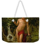 Narcissus In Love With His Own Reflection Weekender Tote Bag by Dionisio Baixeras-Verdaguer