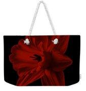 Narcissus Red Flower Square Weekender Tote Bag
