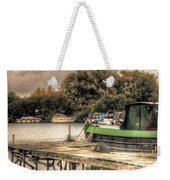 Narrow Boat And Jetty Weekender Tote Bag