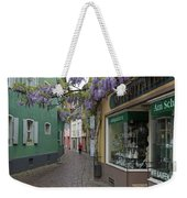 Narrow Street In Freiburg Weekender Tote Bag