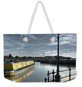 Narrowboat Idly Dan At Barton Marina On Weekender Tote Bag