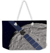 Nasas Dawn Spacecraft Orbiting Weekender Tote Bag