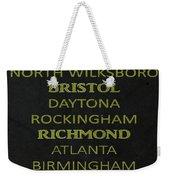 Nascar Track List Weekender Tote Bag
