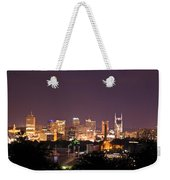 Nashville Night Scene Weekender Tote Bag