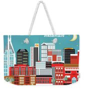 Nashville Tennessee Horizontal Skyline Weekender Tote Bag