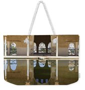 Nasrid Palace Arches Reflection At The Alhambra Granada Weekender Tote Bag