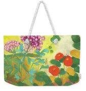 Nasturtiums, Rose Milkweed And Rue Weekender Tote Bag