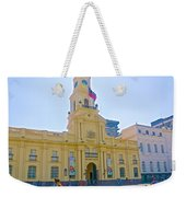 National History Museum On Plaza De Armas In Santiago-chile Weekender Tote Bag