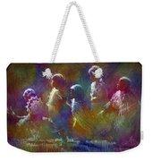 Native American - 5 Girls Dancing In The Moonlight Weekender Tote Bag